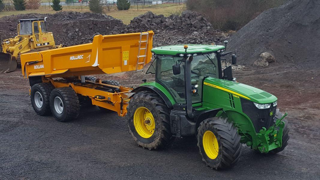 Demonstración de un remolque de construcción Rollroc, equipado con Rollfast.