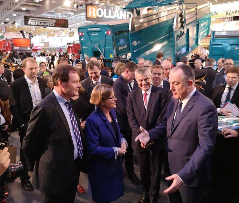 Conversación con el ministro de la agricultura Francés